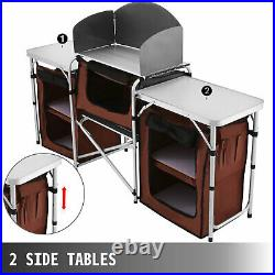 Camping Kitchen Table Food Prep Storage Cooking Tables Adjustable Folding