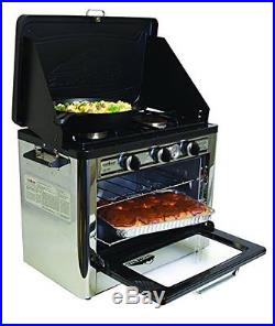 Camping Outdoor Oven with 2 Burner Camping Stove- bbq/camping
