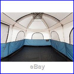Camping Tent 10 Person 2 Room Waterproof Ozark Hunting Fishing Gray Family Cabin