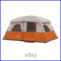 Camping Tent 8-Person Instant Waterproof 2 Rooms Family Cabin Shelter Stakes