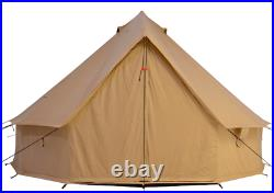 Canvas Bell Tent 3M Waterproof Glamping Hunting & Family Camping Regatta Tent