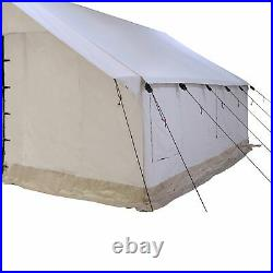 Canvas Wall Tent 10'x12' complete Bundle, Waterproof, 4 Season for Camping