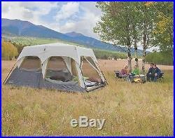 Coleman Signature 8 Person 2 Room Camping Instant Cabin Tent withRainfly 14 x 8