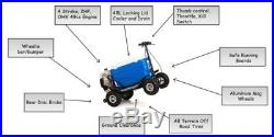 Crazy Coolers BLUE 4Stroke Motorized All Terrain 49CC Cooler with Wheelie Bar