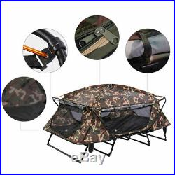 Double Tent Cot Folding Portable Waterproof Camping Hiking Bed Rain Fly Bag