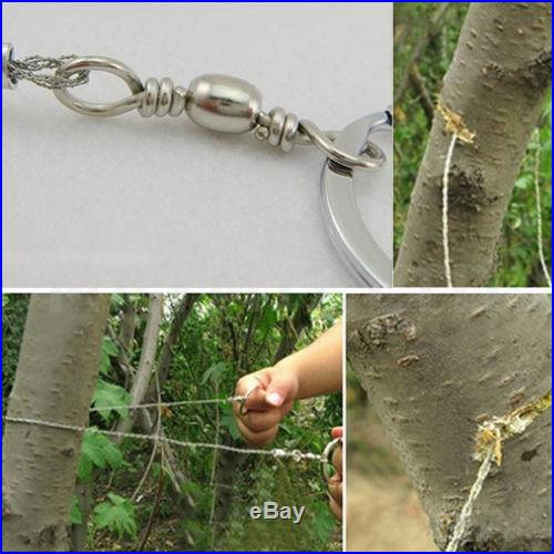Emergency Survival Gear Steel Wire Saw Camping Hiking Hunting Climbing Gear S