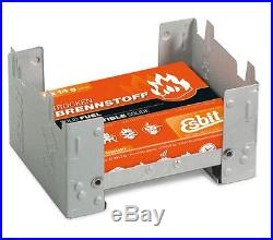 Esbit Camping Folding Pocket Stove with 6pc x 14g Solid Fuel Cube Tablets