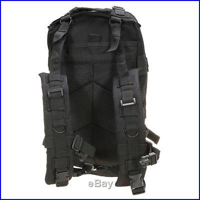 Every Day Carry Tactical Assault Bag EDC Day Pack Backpack Molle Loops Black