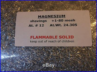 FIVE POUNDS MAGNESIUM shavings for emergency fire starter