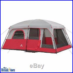 Family Camping Tent 10 Person 2 Room Cabin Large Outdoor Equipment Hiking Gear