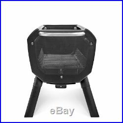 FirePit Wood & Charcoal Burning USB Bluetooth iOS Android Outdoor Flame Grills