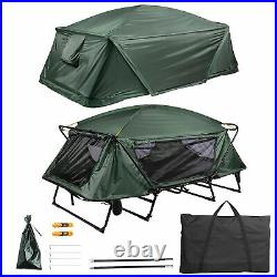 Folding 2 Person Elevated Camping Tent Cot Waterproof Hiking Outdoor Carry Bag