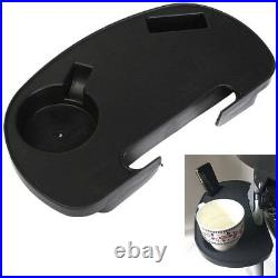 Folding Reclining Garden Lounger Chair Clip On Side Table Cup Drink Holder Tray