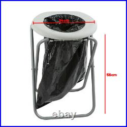 Folding Toilet Portable Chair Camping Travel Park Fishing Outdoors Seat