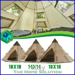 Guide Gear Outdoor Family Camp Teepee Tent Waterproof Coating Bag Included
