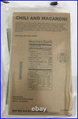 Half 1/2 Case of 6 US MRE Meals Ready To Eat Emergency Food Rations + GAS MASK