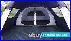 Halfords 6 Person Tunnel Tent 2 rooms Large Family Tent