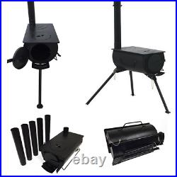 Hunting Survival Camping Wood Stove & Portable Tent Heater