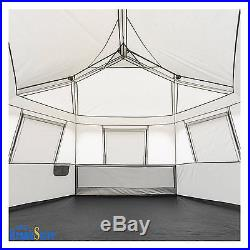 Instant Cabin Tent Ez Pop Up Hexagon Tents 8 Person Outdoor Camping Shelter