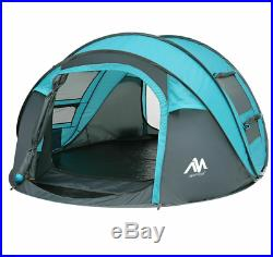 Instant Pop Up 4-5 Person Camping Tent Waterproof Family Backpacking Hiking Tent