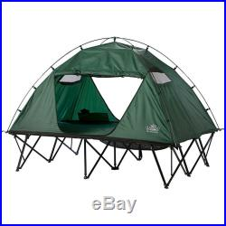 Kamp-Rite Outdoor Camping Hiking Double Tent Cot with Rainfly