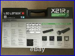 LED Lenser X21R. 2 Rechargeable Torch Brand New
