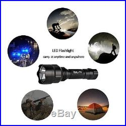 LED Tactical Flashlight Outdoor Waterproof Battery and AC 5 Modes Hiking Camping