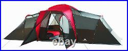 Large 10 Person Camping Tent 3 Room Outdoor Ozark Trail Waterproof Family RED