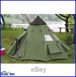 Large Camping Tent 6 Person Family Tepee Outdoor Shelter Hiking Equipment Gear