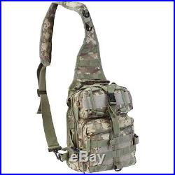 Mens 11 Digital Camo Sling Backpack Tactical Gear Military Bag Hiking Day Pack