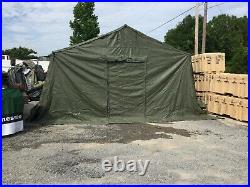 Military Base X 305 Tent 18' X 25' withStakes OD GREEN Tactical Shelter