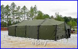 Military Eureka Mgpts Ty 1 18' X 36' Fire & Mildew Resistant M. P. G. P. T. S. Used