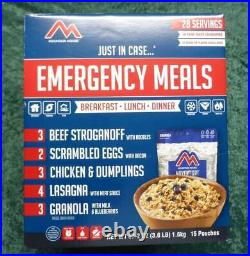 Mountain House Freeze Dried, Emergency Meals 28 Servings Box, Survival Food MREs