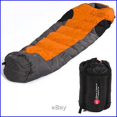 Mummy Sleeping Bag 5F/-15C Camping Hiking With Carrying Case Brand New