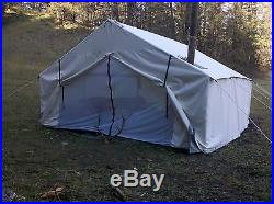 NEW! 12x14x5ft 12.5oz Magnum Outfitter Canvas Wall Tent Camping Elk Hunting