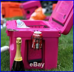 NEW COLD BASTARD PRO SERIES ICE CHEST BOX COOLER YETI QUALITY Free s&h 25L PINK