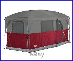 NEW! COLEMAN Hampton 6 Person Family Camping Cabin Tent with WeatherTec 13' x 7