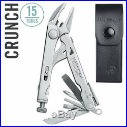 NEW Leatherman Crunch Multi-Tool with Locking Jaw Pliers & Leather Sheath