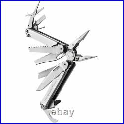 NEW Leatherman Wave Plus Multi-Tool, Stainless with Heritage Leather Sheath