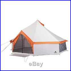 NEW Ozark Trail 8 Person Yurt Camping Tent Outdoor Family with Mud Mat Backyard