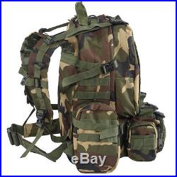 New 55L Outdoor Military Tactical Backpack Rucksack Camping Bag Hiking Camo