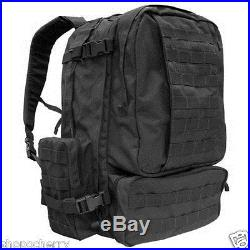 New Black Condor 125 MOLLE 3 Day Assault Pack Hiking Patrol Tactical Backpack