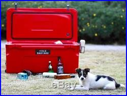 New COLD BASTARD PRO SERIES ICE CHEST BOX COOLER YETI QUALITY Free s&h 75L RED