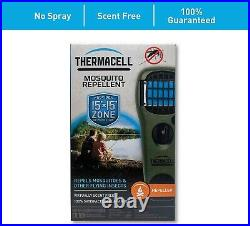 New Thermacell Mosquito Repellent Appliance Olive Green MR-150 Mats Refill