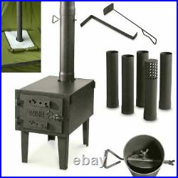 OUTDOOR WOOD BURNING STOVE Steel Camping Survival Tent Grill Cooking Portable