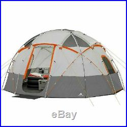 OZARK TRAIL 12-Person Base Camp Tent with Built-in LED Lights Model 30500 NEW