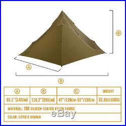 OneTigris 2-3 Person Ultralight Outdoor Camping Teepee Tent Waterproof Shelter