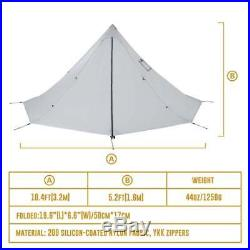 OneTigris Winter 2 Person Chimney Teepee Tent C&ing Hiking Waterproof Shelter  sc 1 st  C&ing And Hiking Gear & OneTigris Winter 2 Person Chimney Teepee Tent Camping Hiking ...