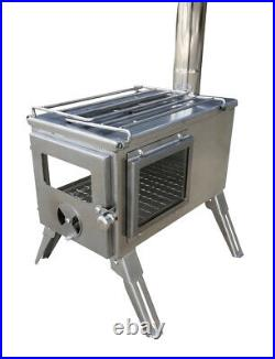 Outbacker Firebox'Flame' 304 Stainless'Clear View' Tent Stove