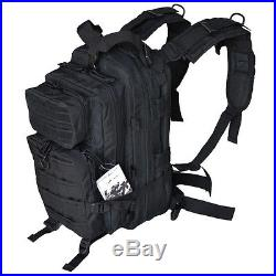 Outdoor Military Tactical Assault Backpack with Molle Bug-Out-Bag Black